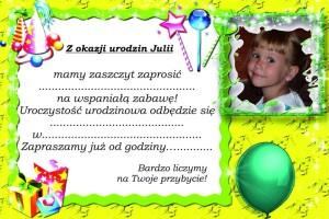 zaproszenie Julki